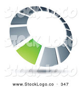 Vector Logo of a Pre-Made Logo of a Green Square in a Silver Dial, Above Space for a Business Name and Company Slogan by Beboy