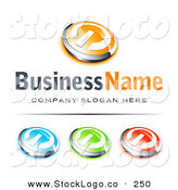 Vector Logo of a Pre-Made Logo of a Orange and Silver Power Button, Blue Green and Red Buttons Also Included, with Space for a Business Name and Company Slogan Below by Beboy