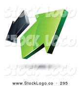 Vector Logo of a Pre-Made Logo of Green and Gray Opposing Pointed Arrows by Beboy