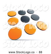 Vector Logo of a Pre-Made Logo of Rows of Orange and Black Dots on White by Beboy