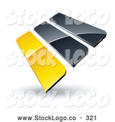 Vector Logo of a Pre-Made Logo of Yellow and Gray Bars Stacked up by Beboy