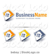 Vector Logo of a Pre-Made Real Estate Logo of a Large Window on a Home with Space for a Business Name and Company Slogan by Beboy