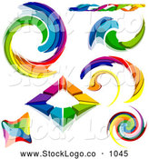 Vector Logo of a Radient Digital Collage of Rainbow Logo Designs by Dero