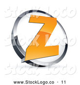 Vector Logo of a Shiny Letter Z in a Circle, Above Space for a Business Name and Company Slogan by Beboy
