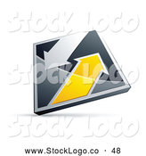 Vector Logo of a Silver and Yellow Diamond with Arrows by Beboy