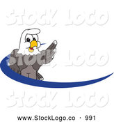 Vector Logo of a Smiling Bald Eagle Character Dash Logo by Toons4Biz