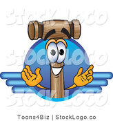 Vector Logo of a Wood Mallet Mascot Cartoon Character Logo by Toons4Biz