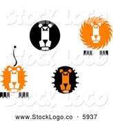 Vector Logo of Lion Face Logos by Vector Tradition SM