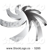 Vector of a 3d Chrome Spiral Logo by Vectorace