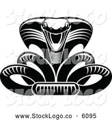 Vector of a Black and White Viper Logo by Vector Tradition SM