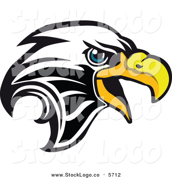 Vector Clipart of a Bald Eagle Head Logo