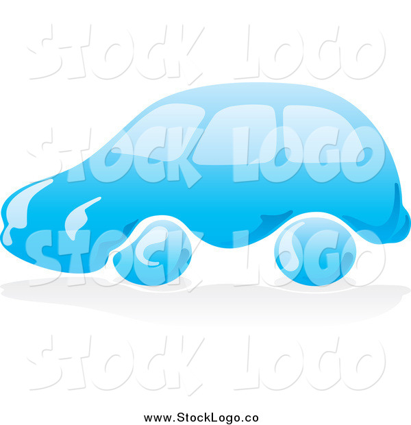 Vector Clipart of a Blue Water Car Logo