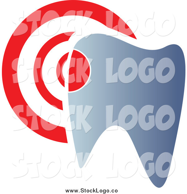 Vector Clipart of a Dentistry Tooth and Target Logo
