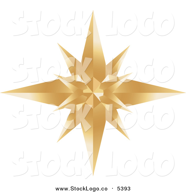 Vector Clipart of a Gold Star Burst Logo