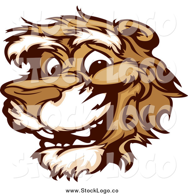 Vector Clipart of a Logo of a Smiling Cougar Mascot Face