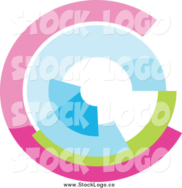 Vector Clipart of a Pastel Logo