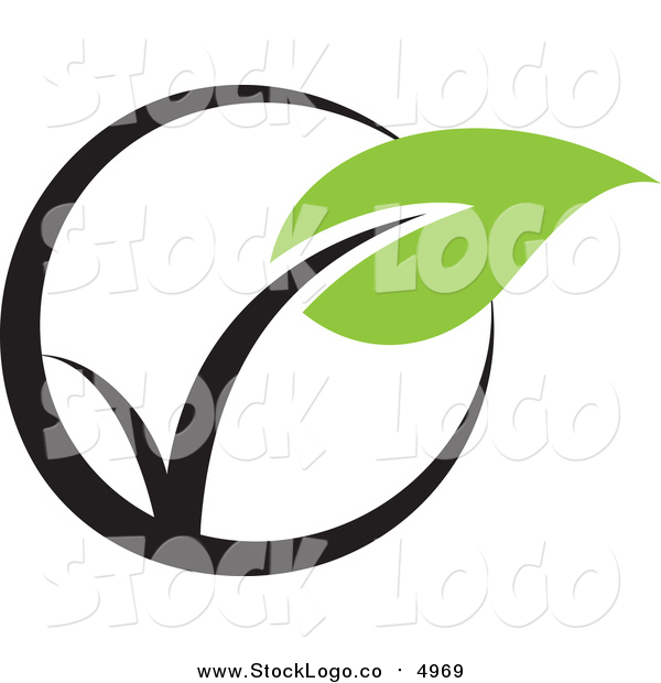 Vector Clipart of a Seedling Plant Ecology Logo