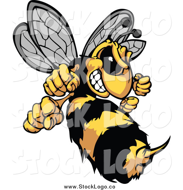 Vector Clipart of a Stinging Hornet Logo
