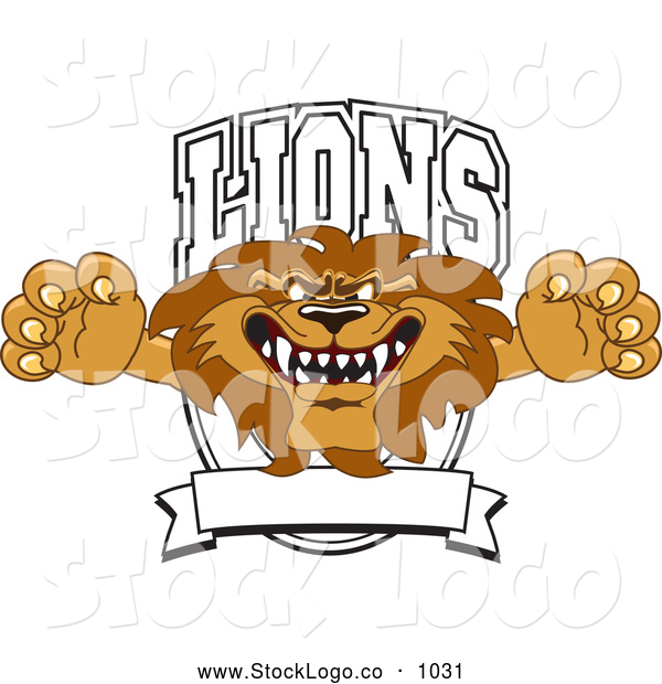 Vector Logo of a Mean Lion Character Mascot Logo