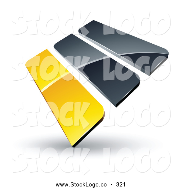 Vector Logo of a Pre-Made Logo of Yellow and Gray Bars Stacked up