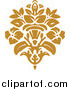 Vector Clipart of a Gold Damask Logo by BestVector