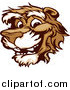 Vector Clipart of a Logo of a Smiling Cougar Mascot Face by Chromaco