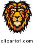 Vector Clipart of a Male Lion Face Logo by Chromaco
