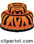 Vector Clipart of a Two Tiered Tiger Striped Cake by Pams Clipart