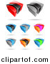 Vector Clipart of Colorful 3d Logos by Cidepix