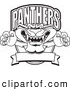 Vector Logo of a Coloring Page of a Panther Character Mascot Logo by Toons4Biz