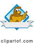 Vector Logo of a Cute Hawk Mascot Character Diamond Logo by Toons4Biz