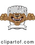 Vector Logo of a Frightening Cougar Mascot Character School Banner Logo by Toons4Biz