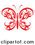 Vector of a Red Tribal Butterfly Logo by Vector Tradition SM