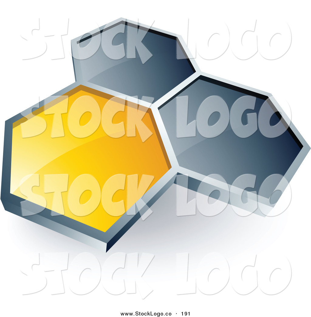 3d Vector Logo Of A Pre-Made Logo Of One Yellow Honeycomb